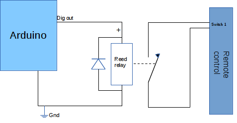 Home automation - circuit diagram Arduino to remote control