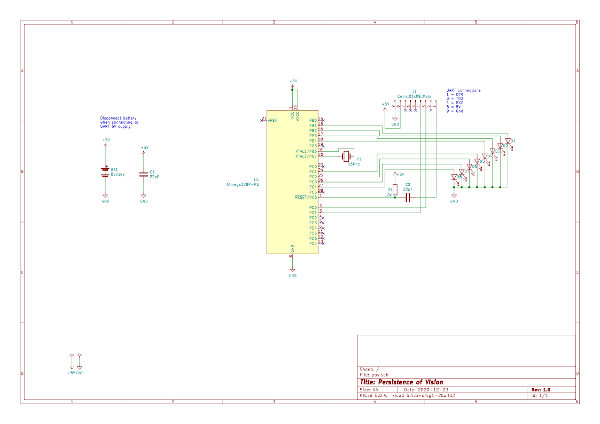 schematic diagram for persistance of vision light painting project
