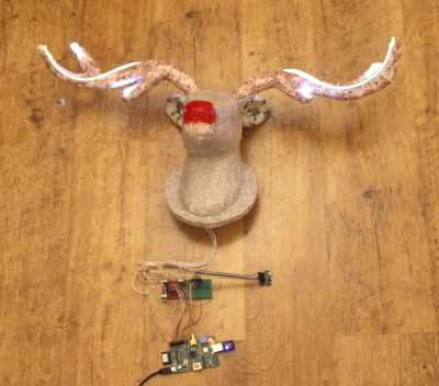 Talking Reindeer - Raspberry Pi powered interactive Christmas decoration - electronics project