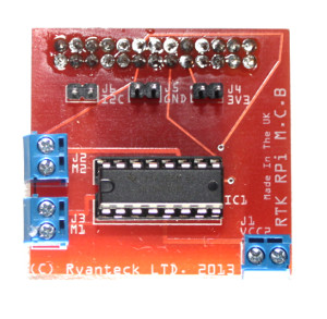 Ryanteck motor controller board for the Raspberry Pi