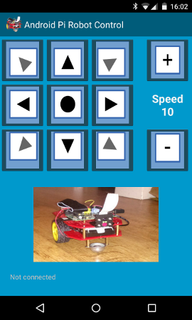 Android app for controlling Raspberry Pi robot