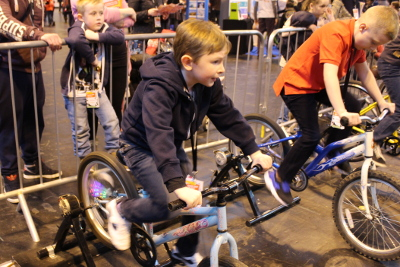 Cycling to generate electricity at the Big Bang Fair