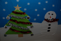 Christmas art picture with photo baubles