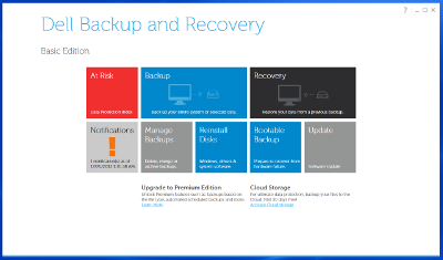Dell backup and recovery tool for Windows 8 / Windows 8.1