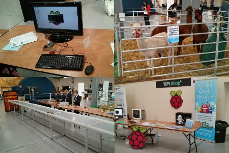 Malvern Festival of Innovation - Raspberry Pi, Llamas, Bloodhound SSC and The Little Pi shop