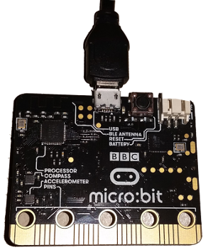 BBC micro:bit (rear view)