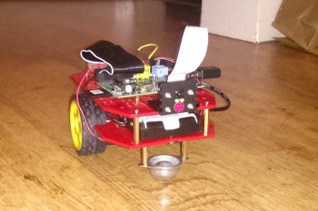 Raspberry Pi powered Ruby Robot (Magician Chassis)