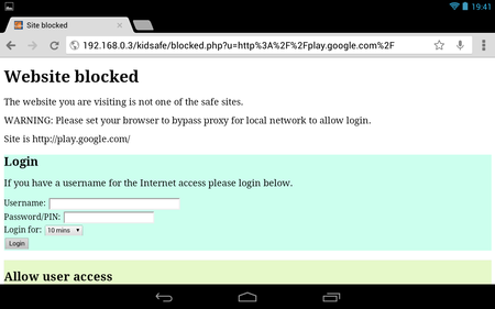 Blocking Google Play App Store on Android
