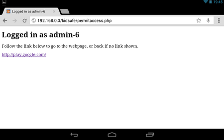 Kidsafe proxy - increasing permissions