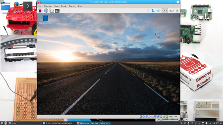 Raspberry Pi PIXEL running in Virtualbox under Kubuntu