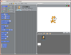 Programming in Scratch on Ubuntu Linux
