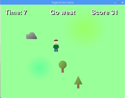 Screen shot Raspberry Pi Picade Compass Game