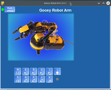 G-Robot Arm - GUI software for robot arm on the Raspberry Pi