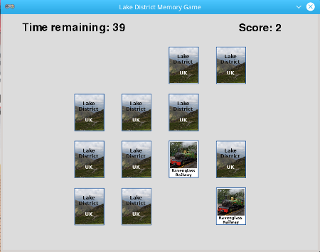 Memory Card Game a python game written in Pygame Zero - perfect for a Raspberry Pi