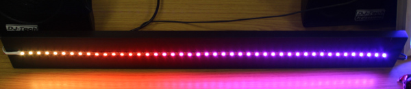 PixelStrip / NeoPixel RGB colour LED strip for discos and parties