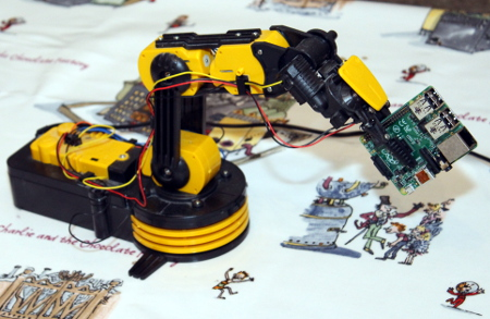 Raspberry Pi based robot arm control software