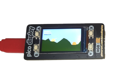 Tank Game on Raspberry Pi Pico with Pimoroni Display Pack