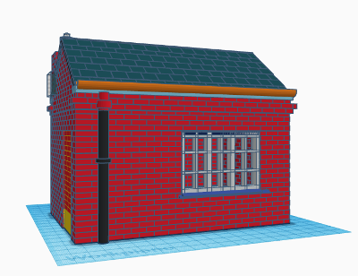 G-Scale model railway weighbridge office building created in TinkerCAD